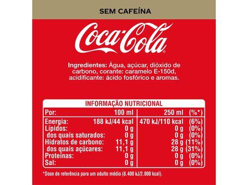 REFRIGERANTE COCA-COLA COM GÁS SEM CAFEÍNA 1L image number 1