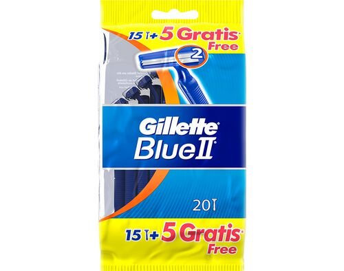 MÁQUINA DESCARTÁVEL GILLETTE BLUE II FIXA 15 UN+5 GRÁTIS image number 0