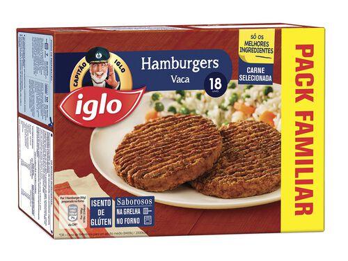 HAMBURGERS IGLO VACA S/ GLUTEN 18 UN 1440G image number 0