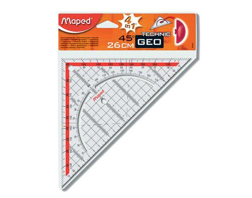 ESQUADRO GEOMETRICO MAPED TECHNIC GEO 45/26CM image number 0