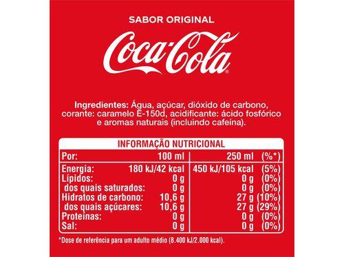 REFRIGERANTE COCA-COLA COM GÁS SABOR ORIGINAL 1L image number 1