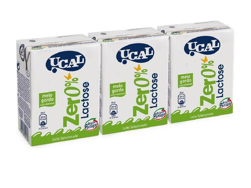 LEITE UCAL M/G 0% LACTOSE 3X200ML image number 1
