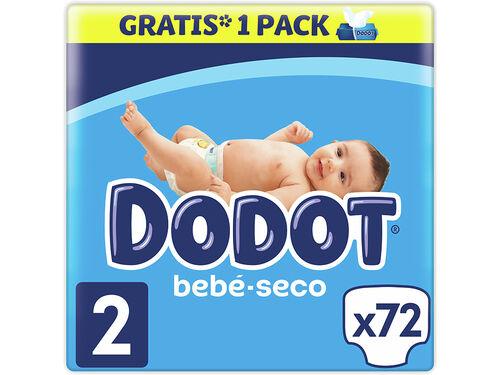 FRALDAS DODOT AZUL BEBÉ SECO T2 4-8 KG 72UN image number 0